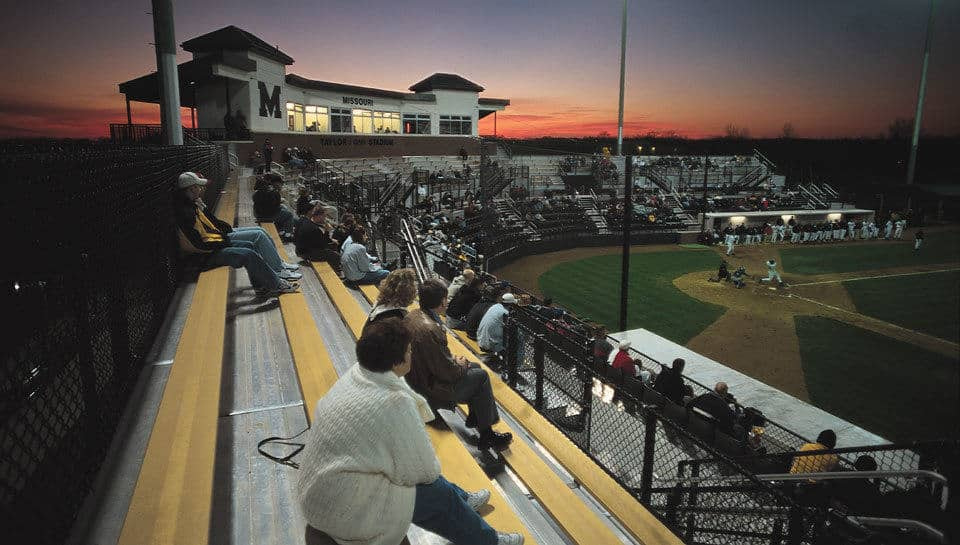 Taylor/Phi Delta Theta Baseball Stadium at Simmons Field, home of the Missouri Tigers-Baseball. Photo by Ed Pfueller