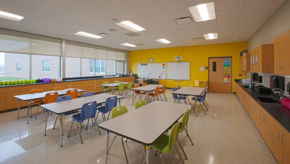 Benefits page - Battle Elementary School Art Classroom.