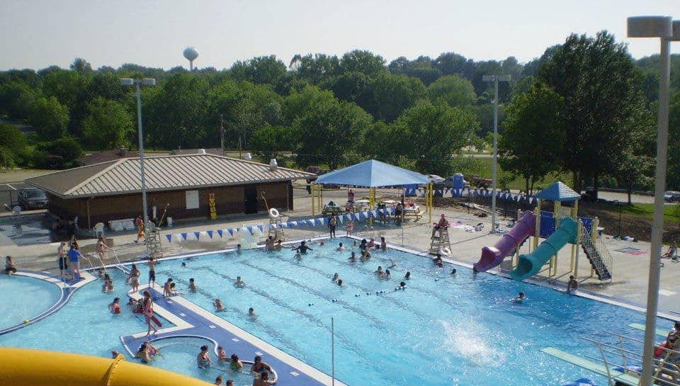 Swimming pool in Boonville, Missouri.