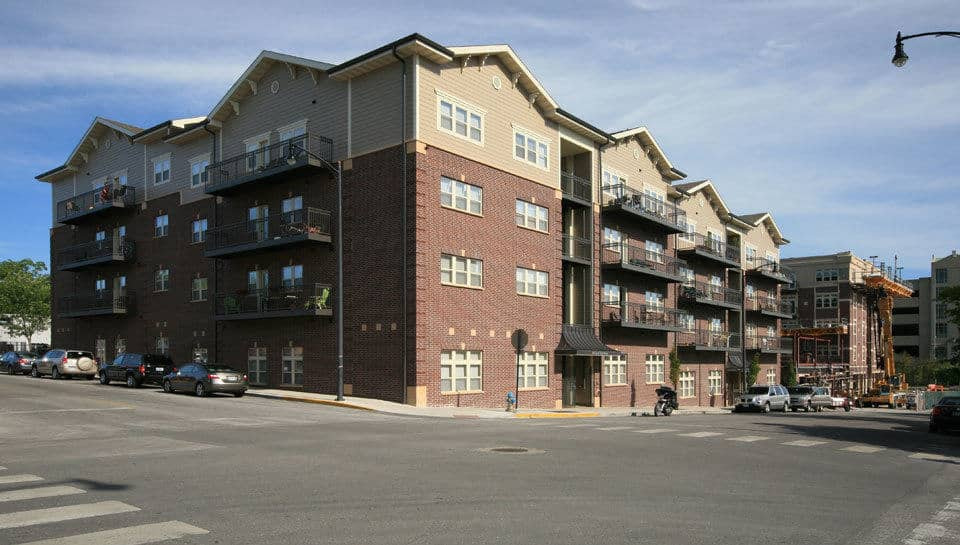The Brookside Downtown Tenth and Elm Apartment Complex is located in Columbia, Missouri.