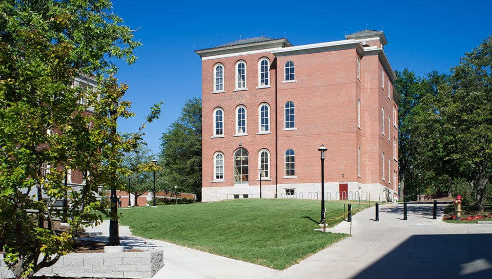 The addition to Switzler Hall at the University of Missouri which includes an accessible grade-level entry, an elevator and stair enclosure, increased the total square footage of the building to 28,086 gross square feet.