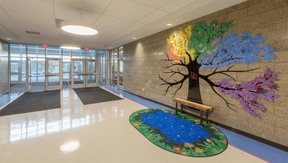 Cedar Ridge Elementary School Entryway, Columbia Public Schools Architects